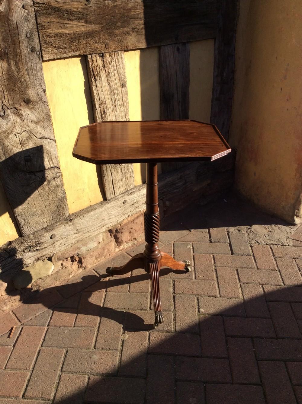 19thc mahogany tripod table