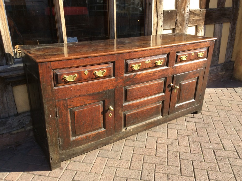 18thc oak dresser cupboard base with exceptional colour and patination