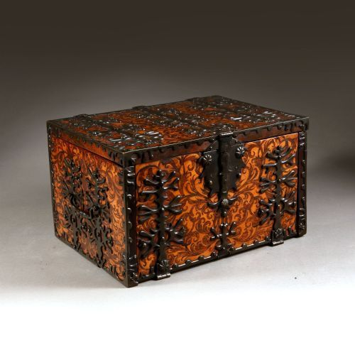 17th century william and mary seaweed marquetry strong box firmly attributed to gerrit jensen