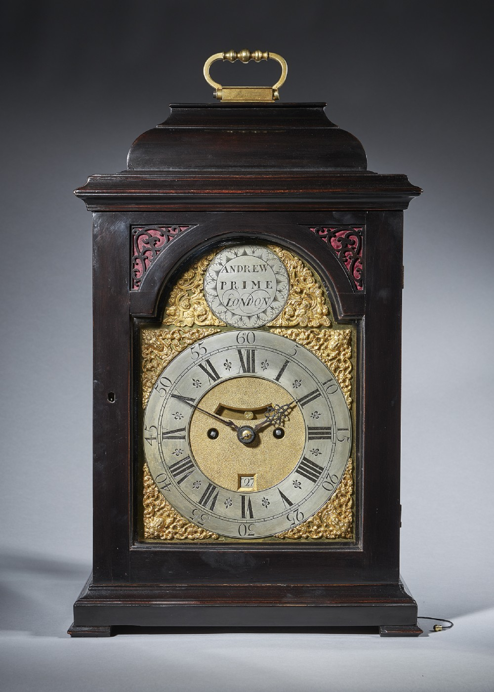 a fine ebonised george ii eight day table clock with dutch striking and trip repeat