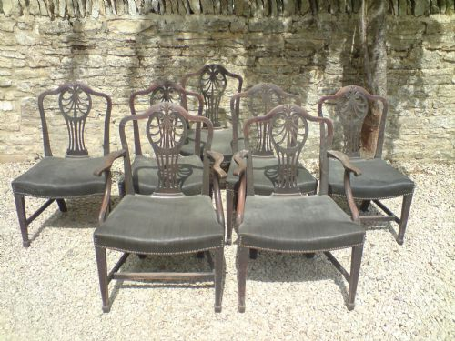 set of 7 george iii dining chairs