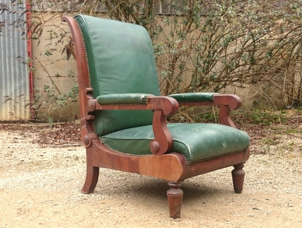 reclining library armchair