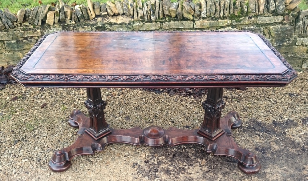 reformed gothic library table
