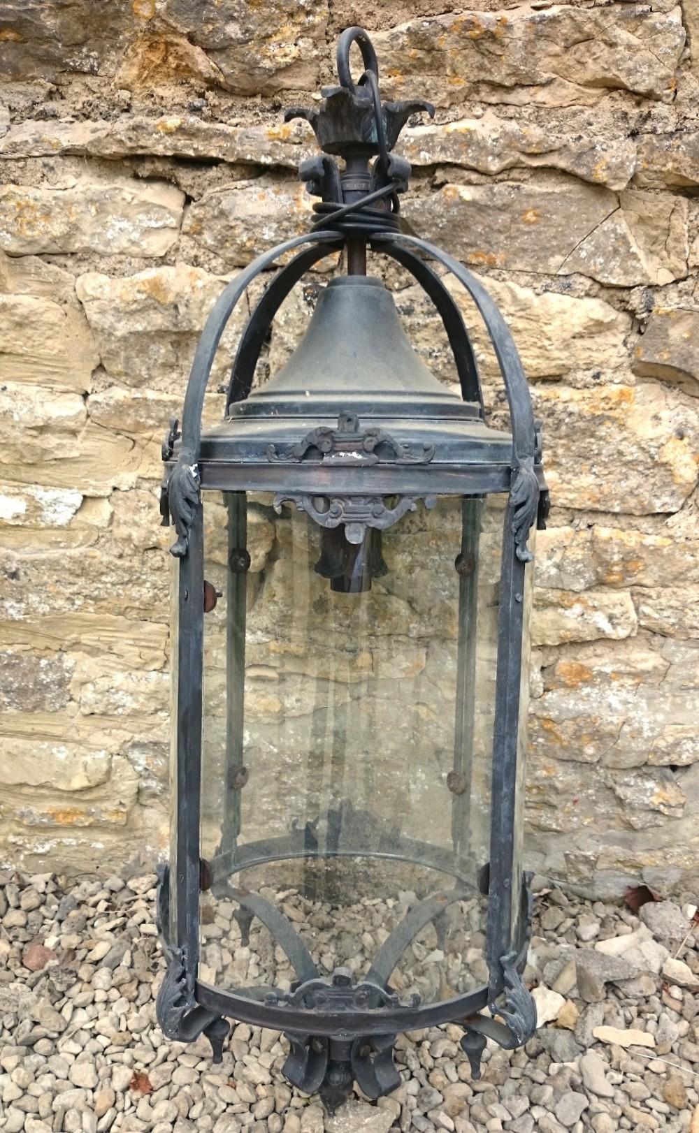 large early 20th century hanging lantern