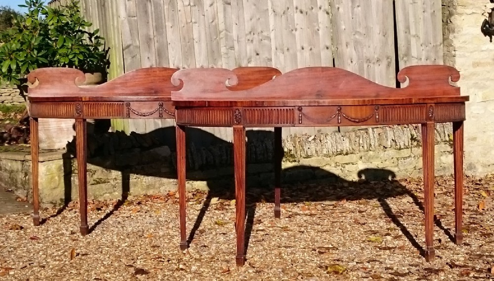 pair of early 19th century george iii period mahogany antique console serving tables