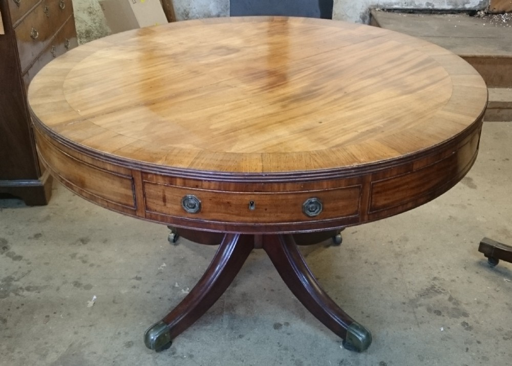 18th century george iii period mahogany antique drum library table