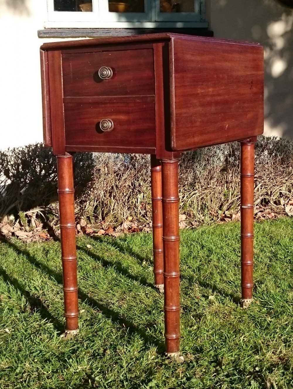early 19th century regency period mahogany antique bedside cupboard
