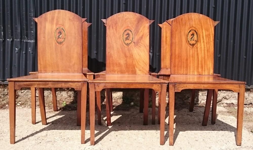 set of six hall chairs george iii 18th century