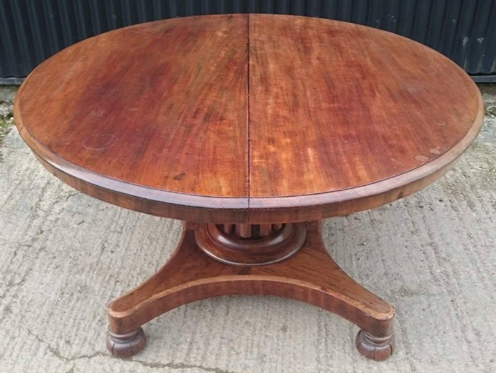 19th century mahogany extending breakfast table by james winter of london