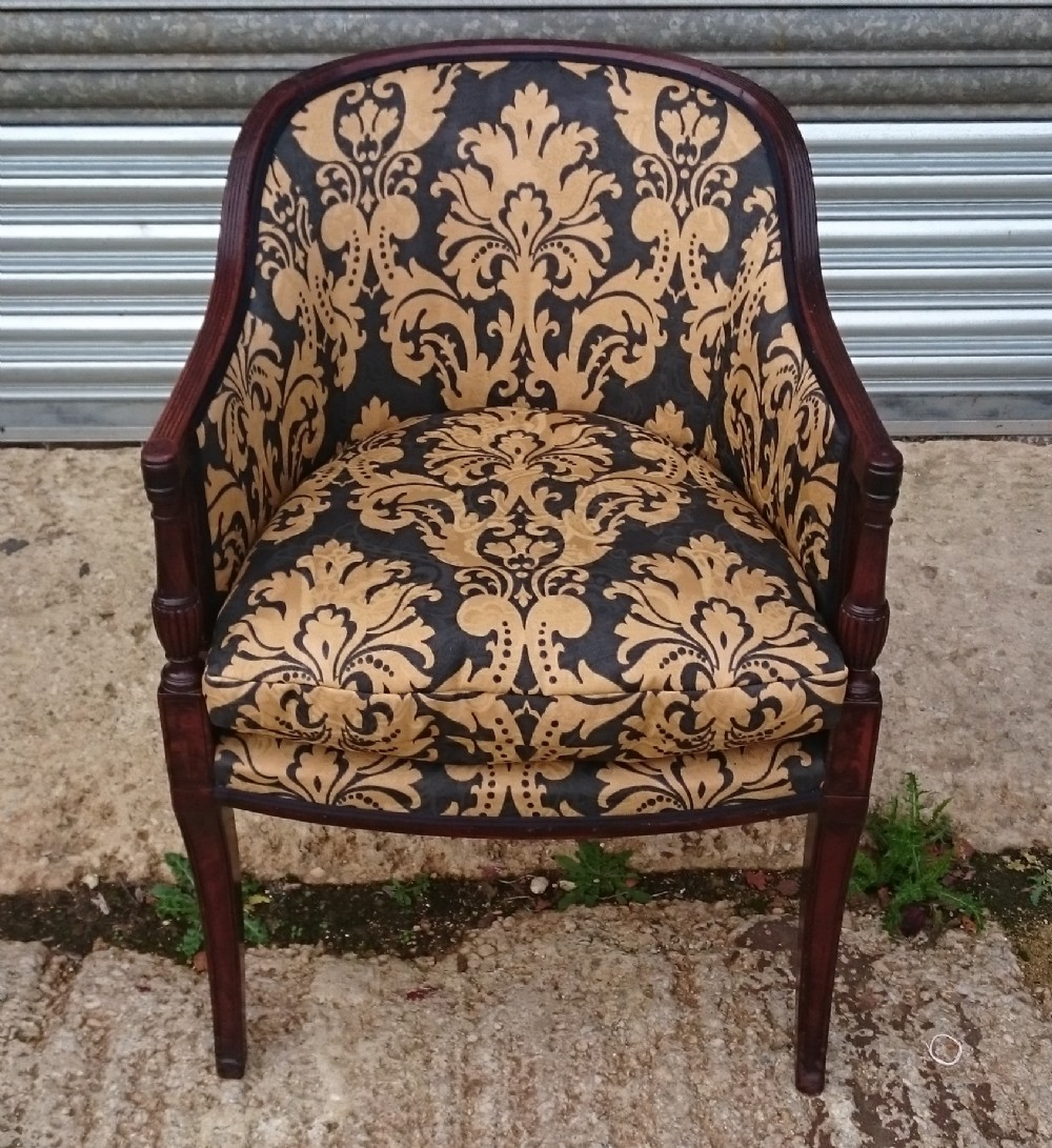 early 19th century george iii period mahogany antique library chair
