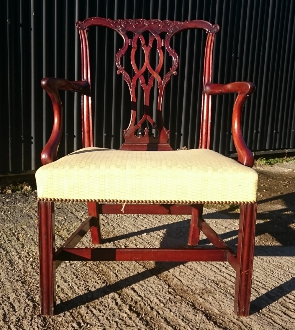 george iii period mahogany antique library chair
