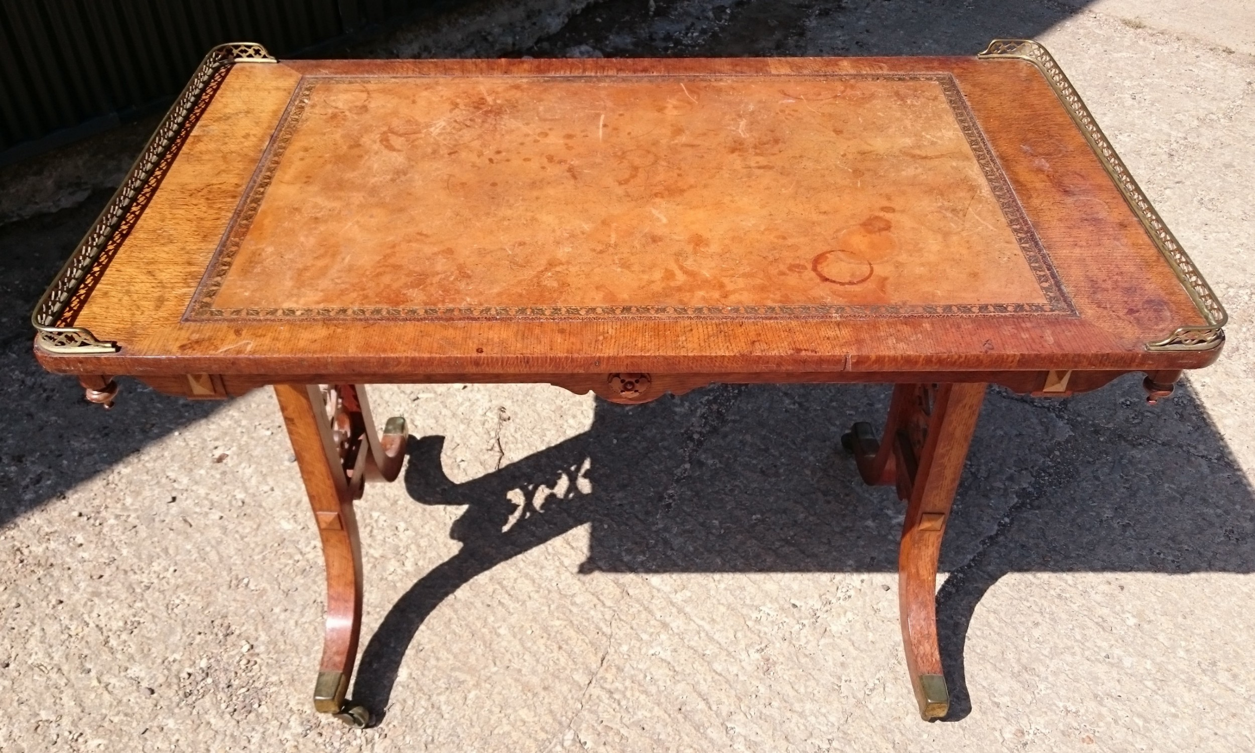 early 19th century regency library writing table