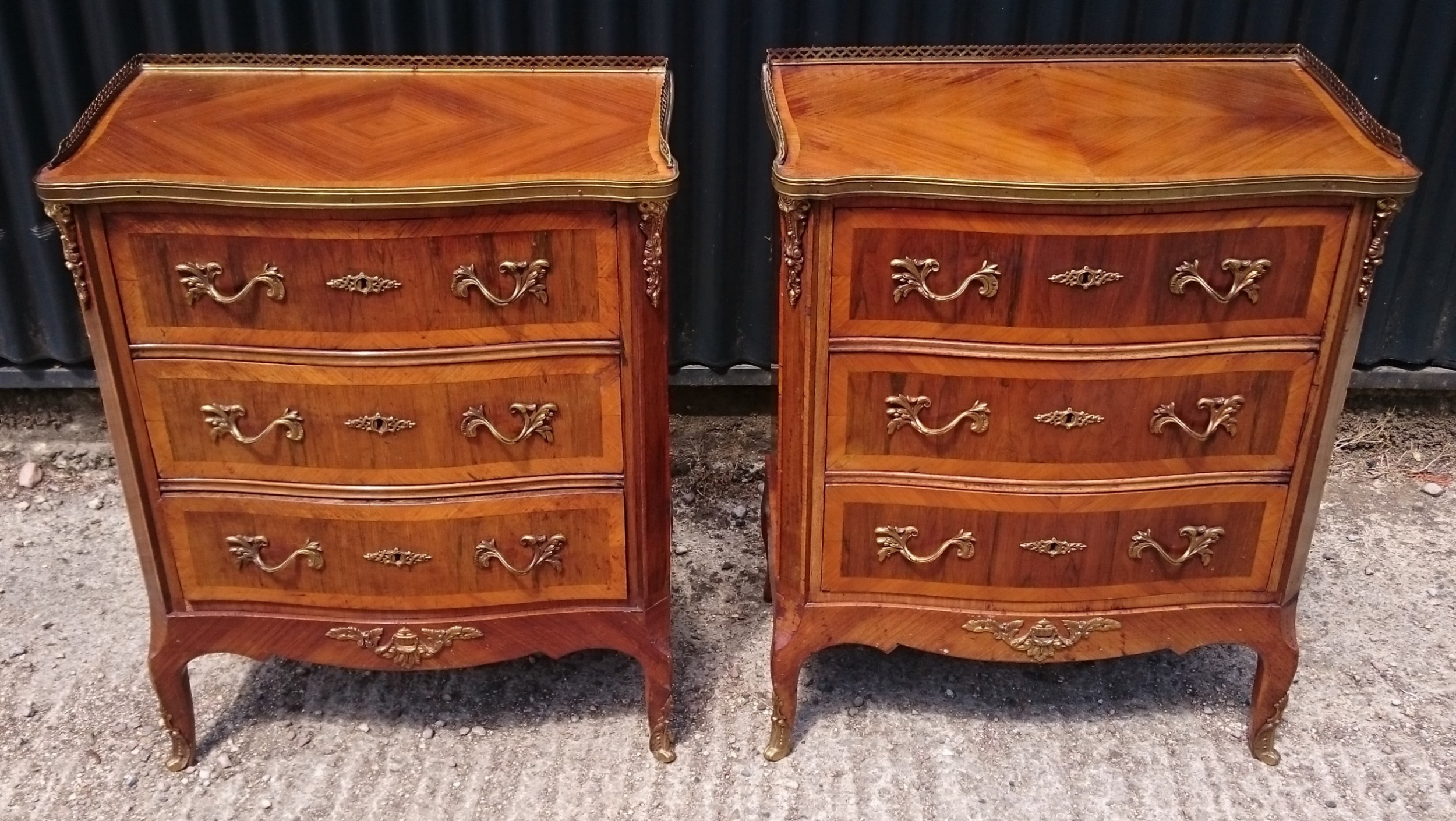 19th century pair of bedside cupboards