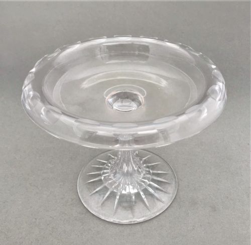 a delightful victorian frosted and cut glass tazza