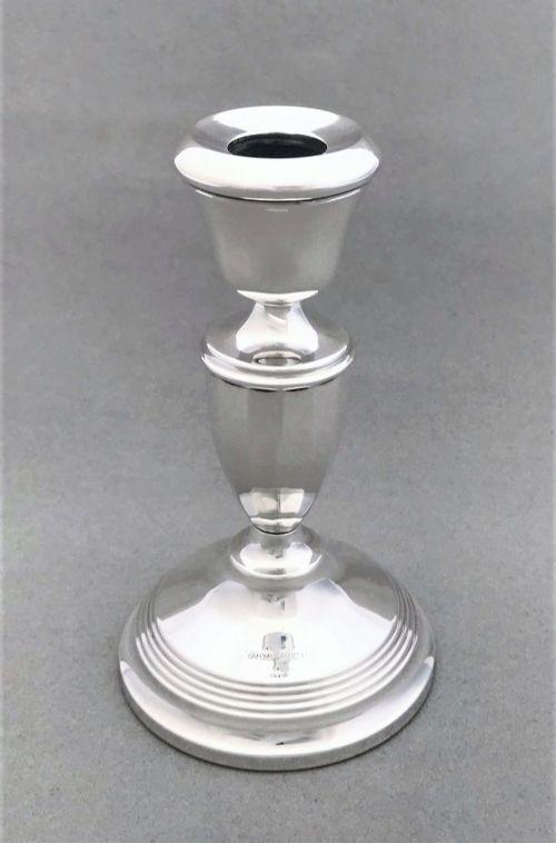 a handsome george v silver candle holder
