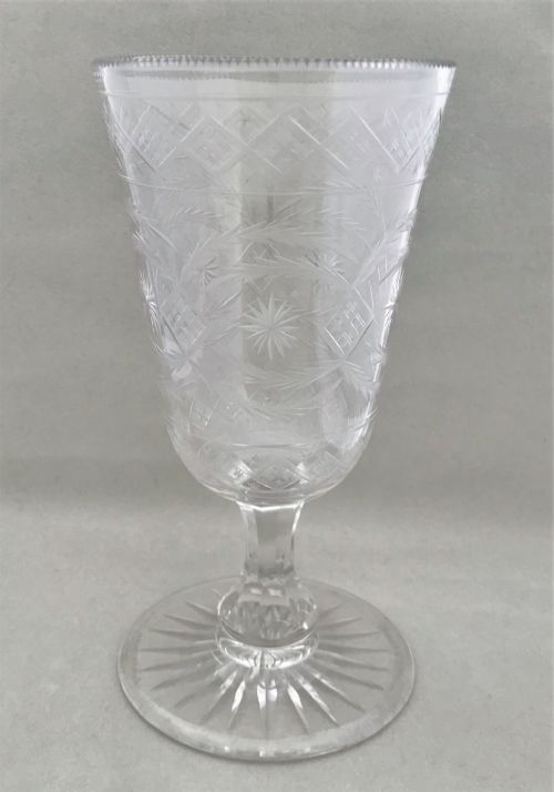 a superior cut etched victorian celery vase
