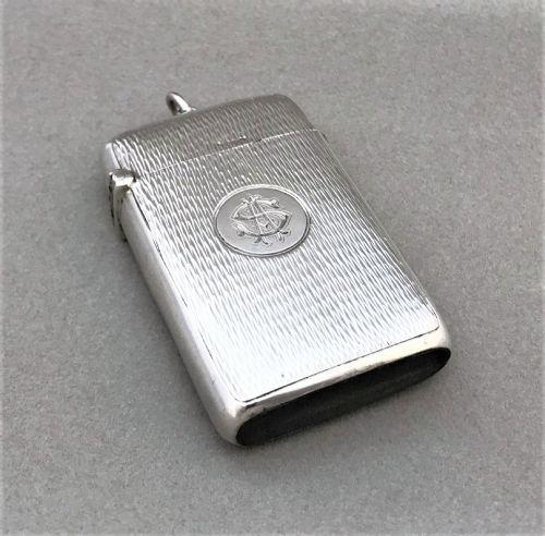 an unusual edwardian silver vesta