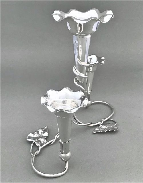 a victorian silver plated epergne centrepiece