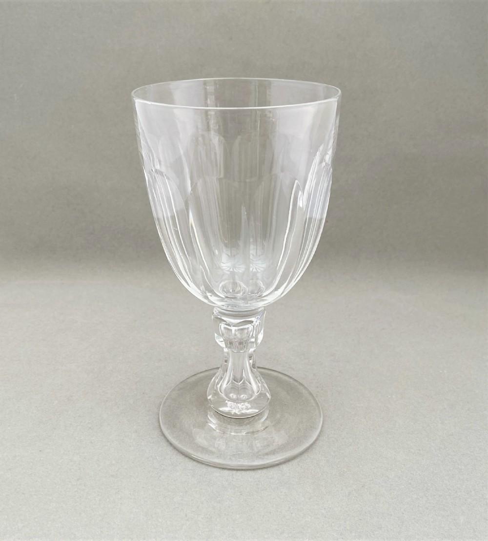 a gorgeous victorian cut glass rummer