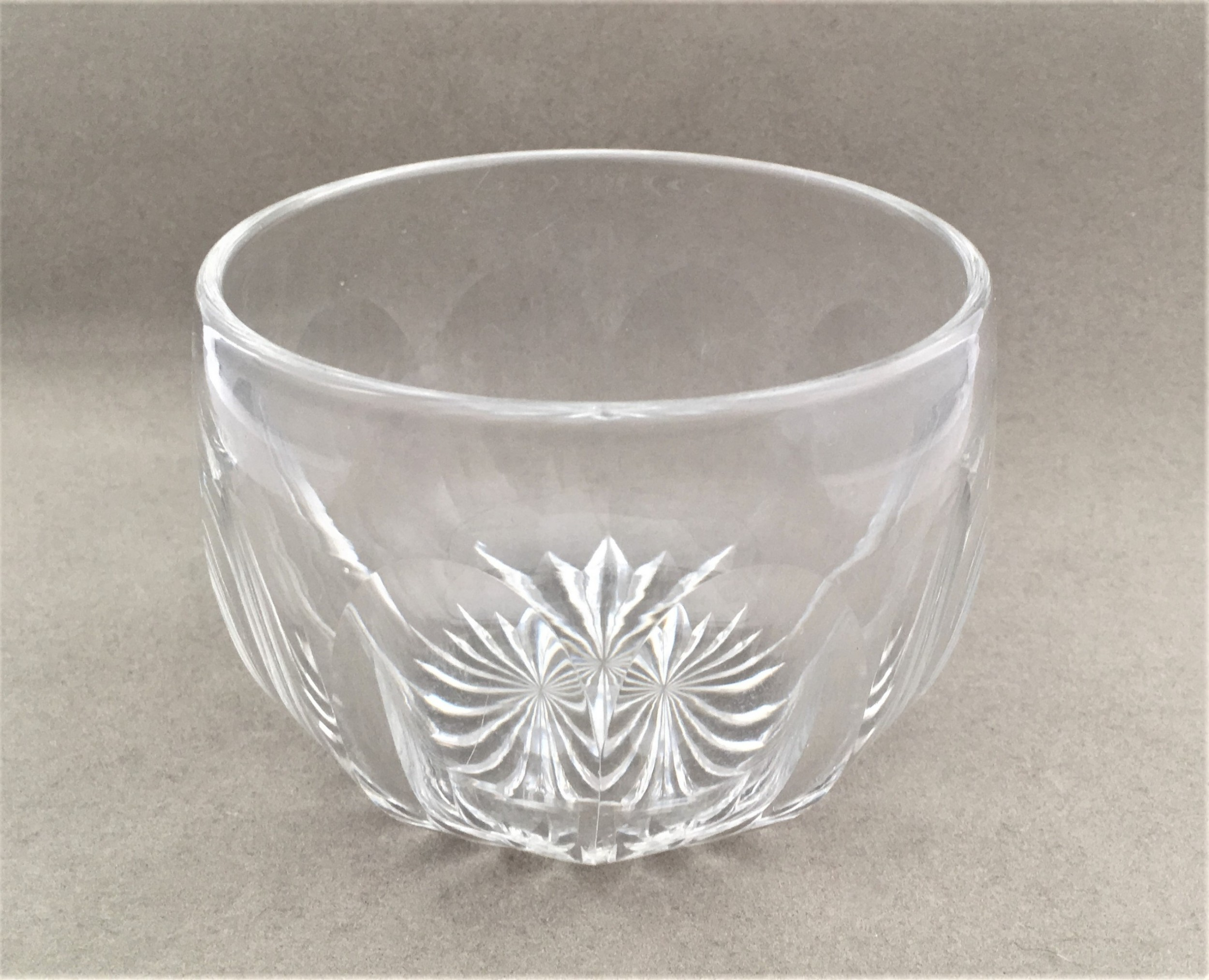 a delightful cut glass finger bowl