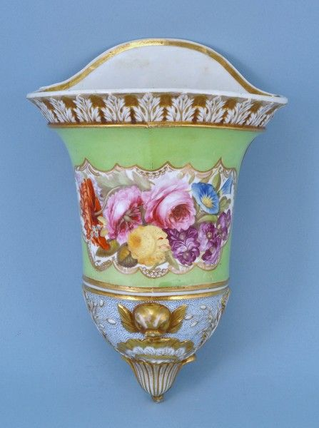 a very unusual 19th century english porcelain wall pocket