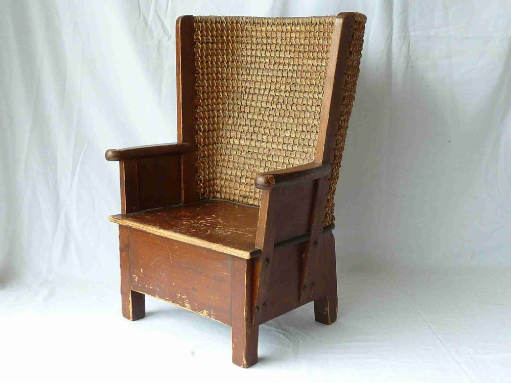 scottish orkney childs chair pine small arts crafts