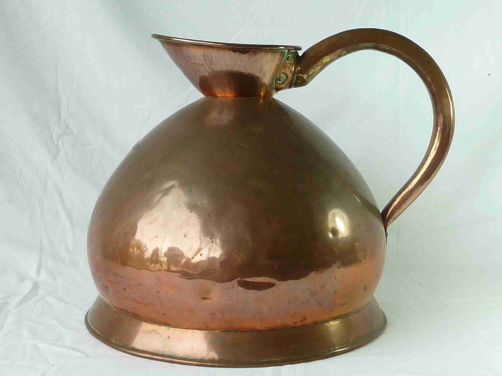 victorian four gallon measure vr marked seamed measuring jug