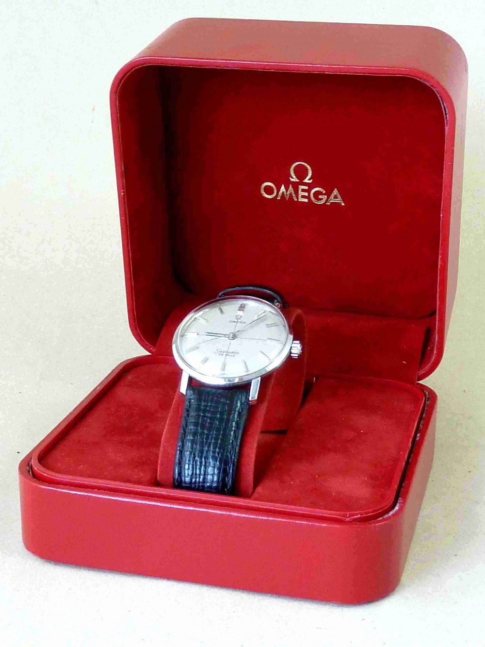1962 omega seamaster de ville manual cross hair dial stainless steel watch boxed