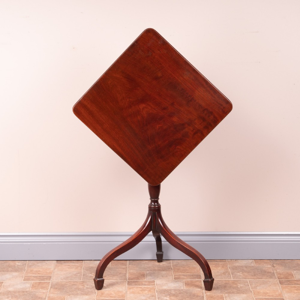 19thc mahogany occasional tip table