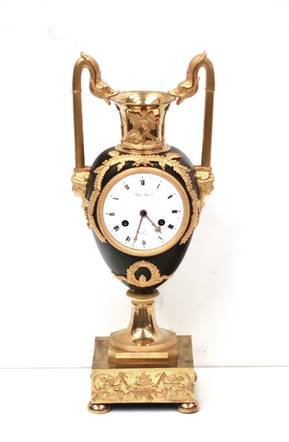 french empire bronze ormolu mantel clock