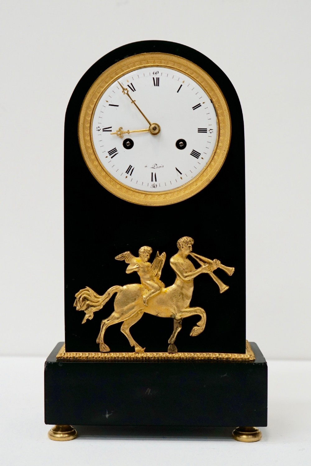 french empire marble ormolu mantel clock