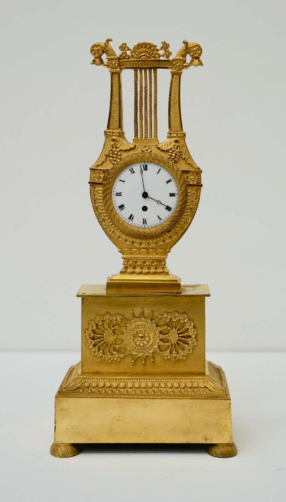 french miniature ormolu clock
