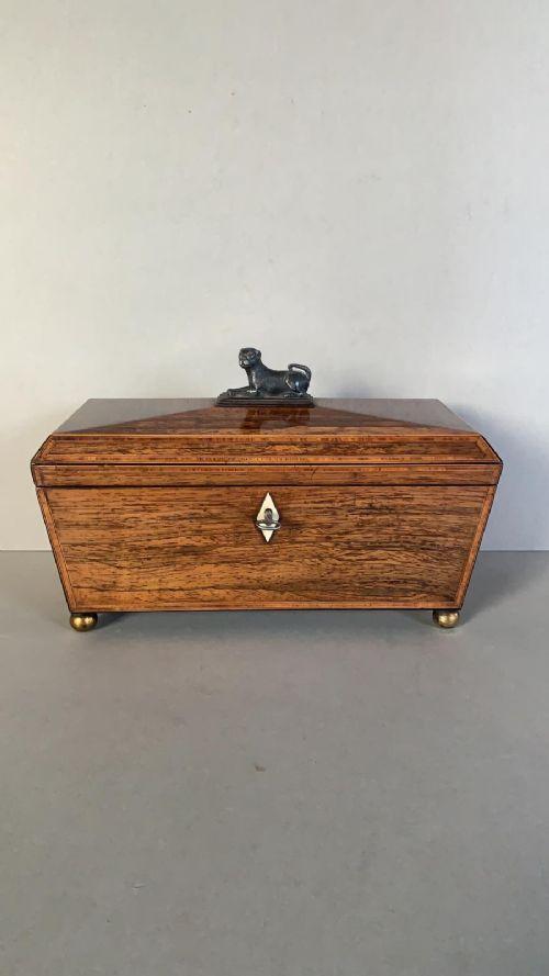 an unusual early 19thc tea caddy