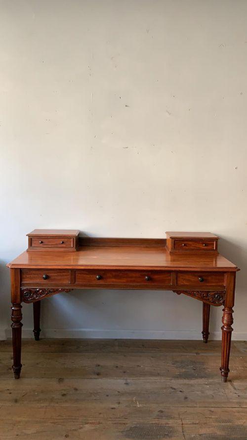 a 19thc heal son mahogany desk