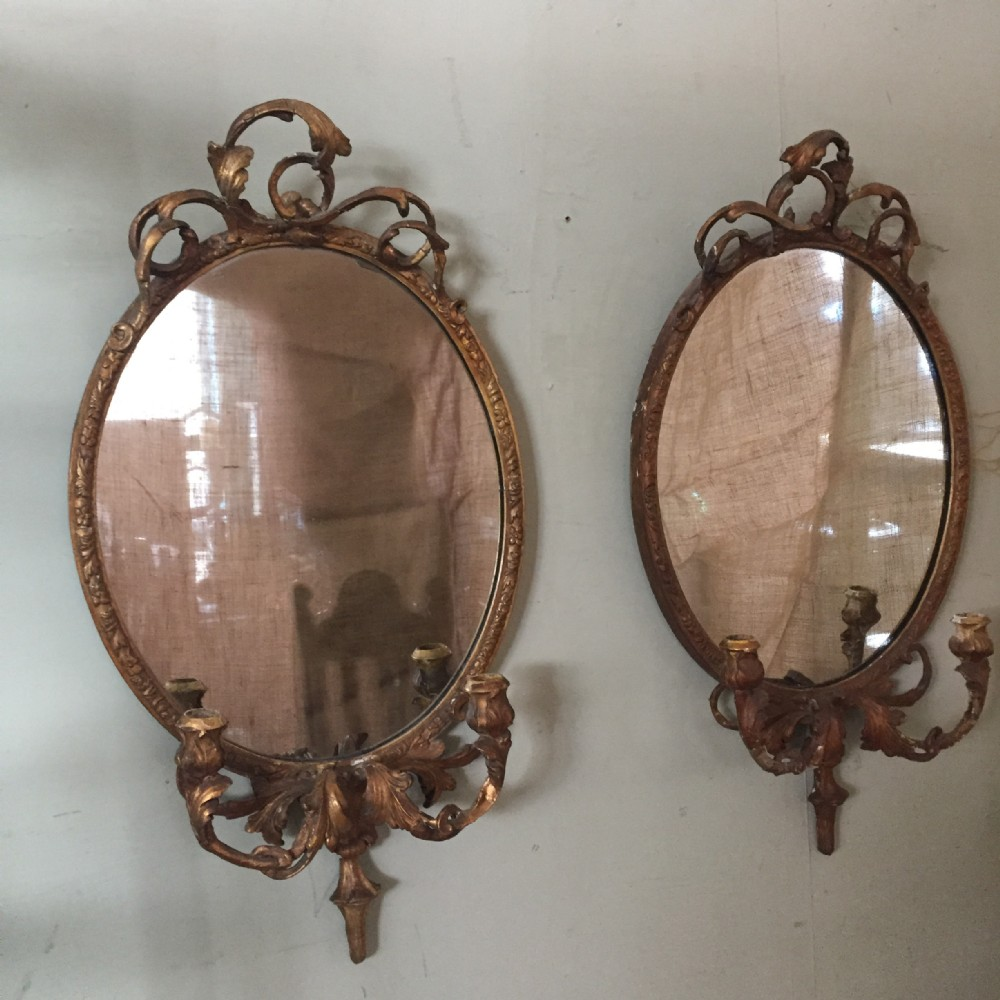 a lovely pair of french 19thc girondole mirrors
