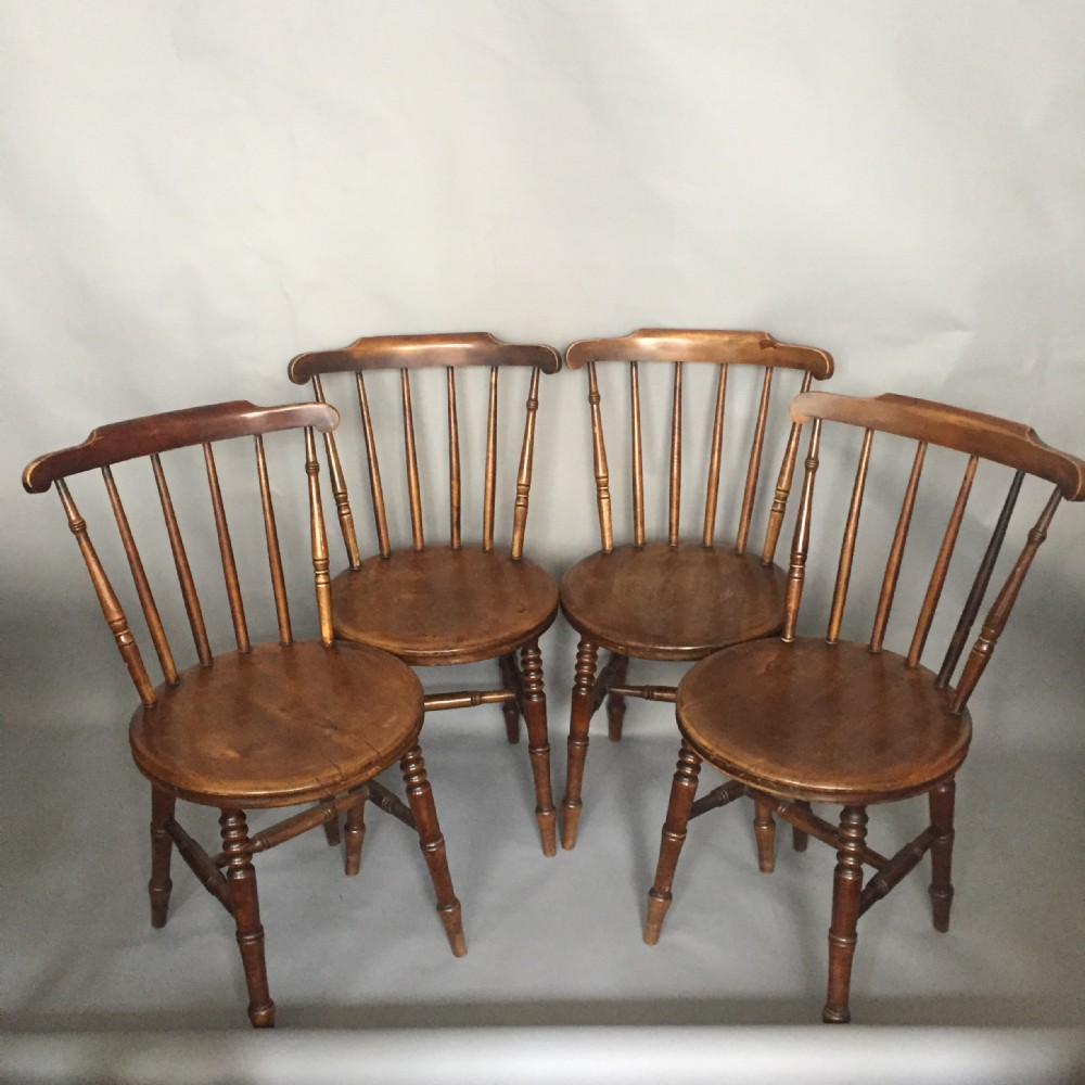 a set of four 19thc penny windsor chairs