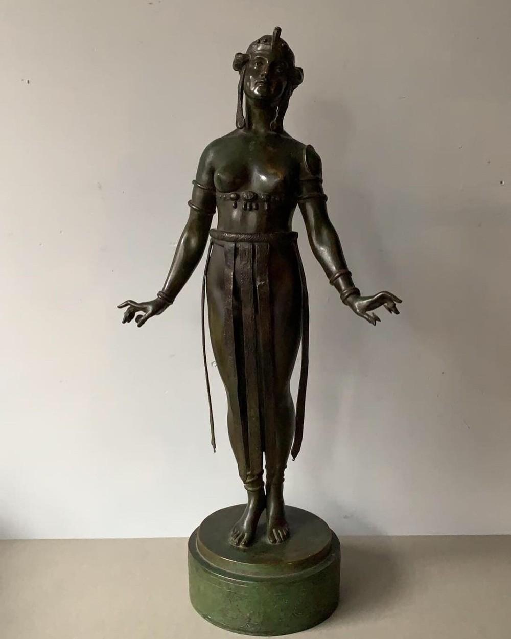 a wonderful art nouveau bronze of an exotic dancer