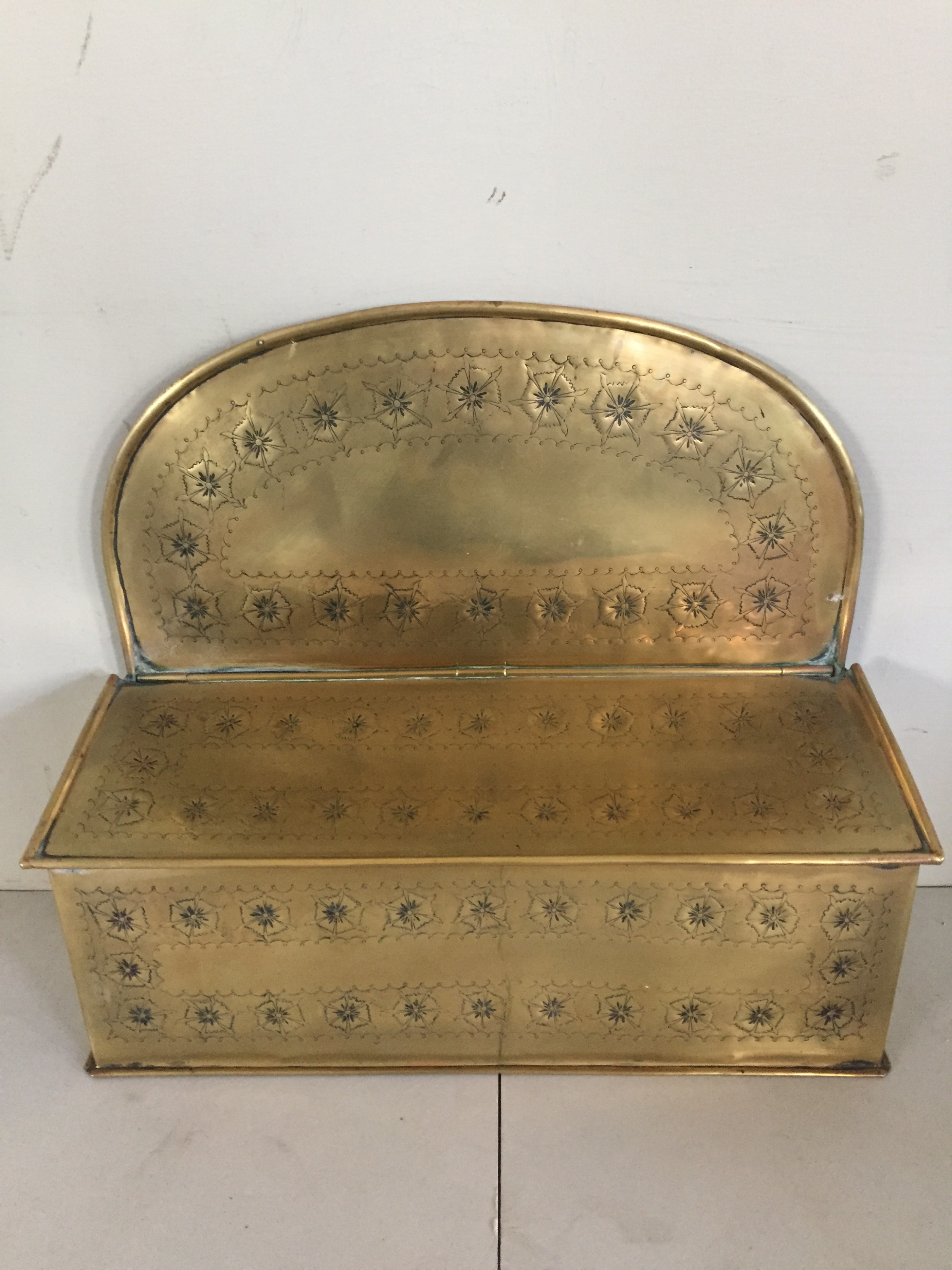 an unusual early 19thc brass candle box