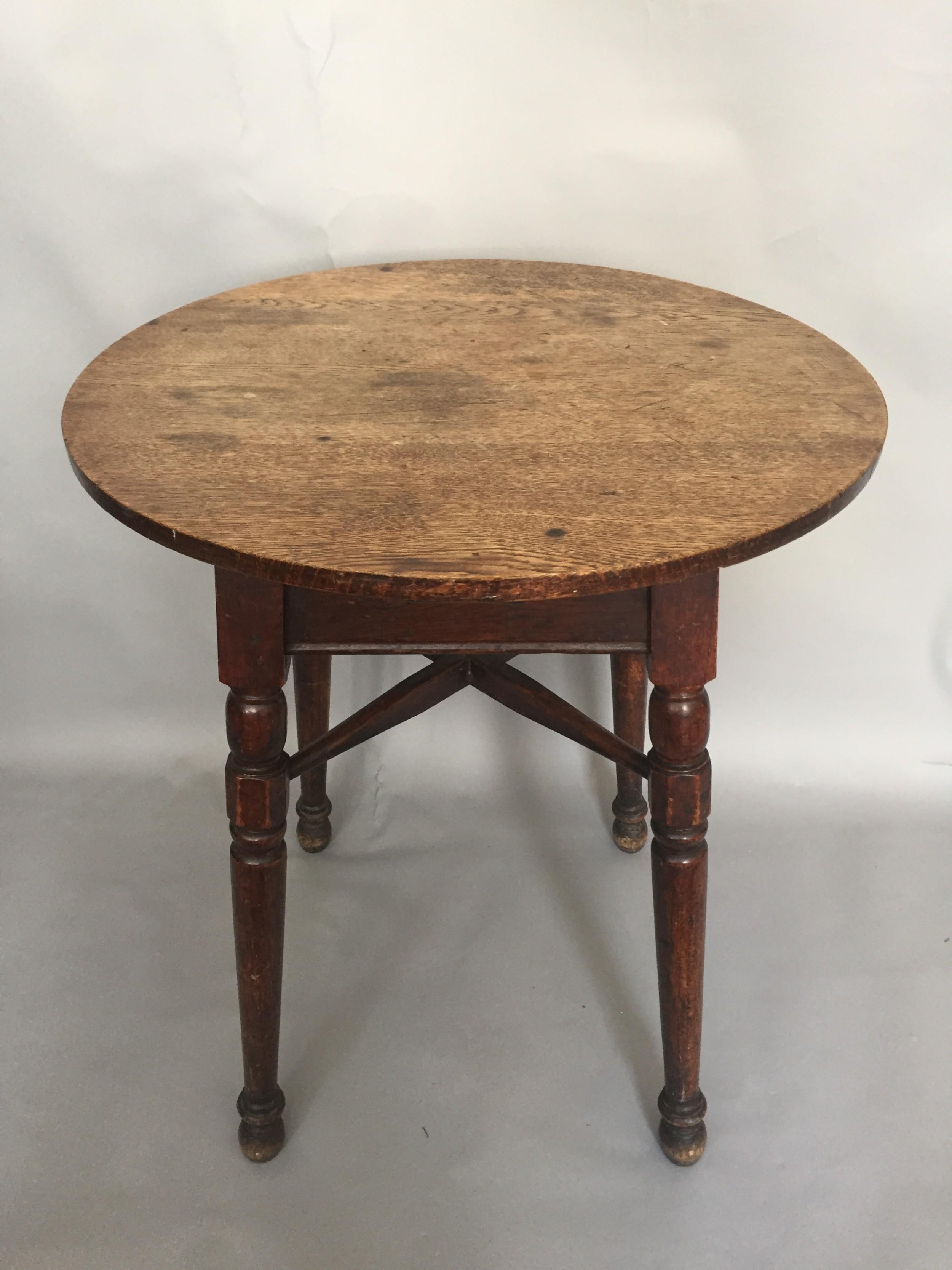 a 19thc oak topped tavern table