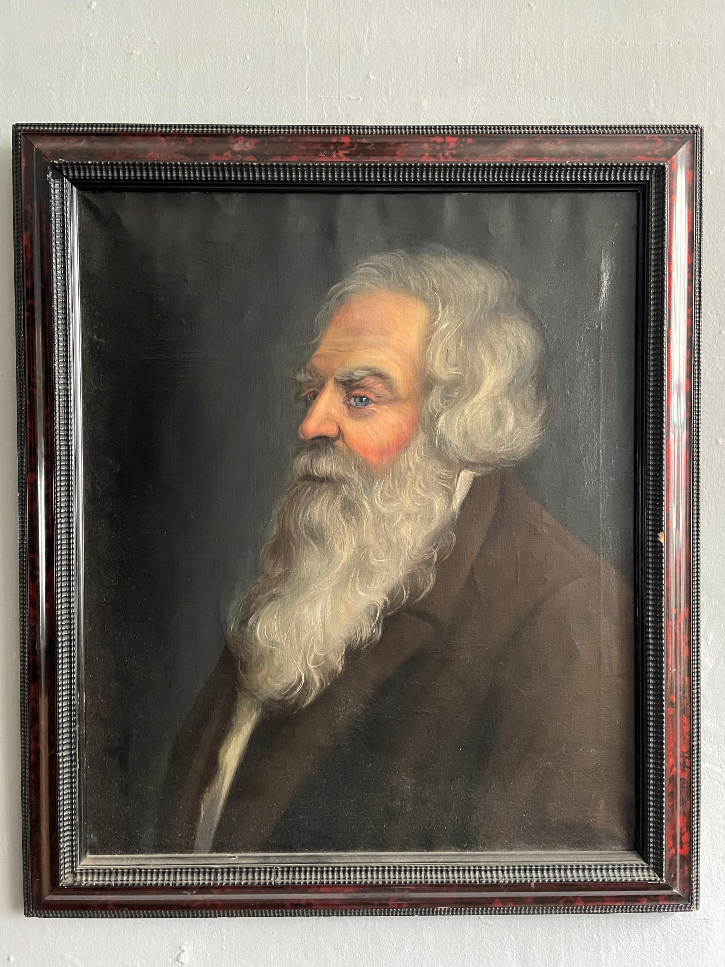 a 19thc portrait of a bearded gentleman