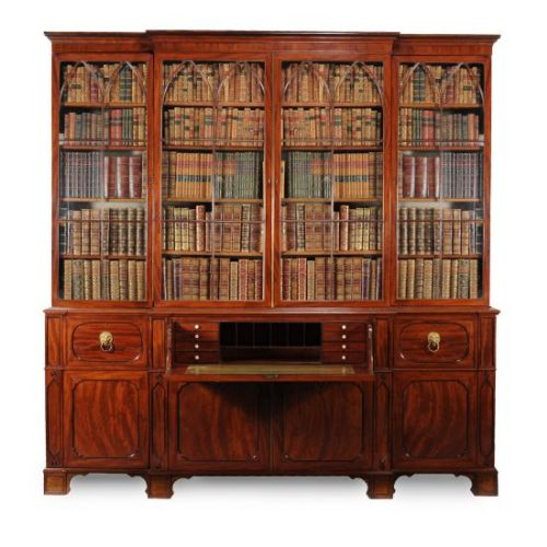 a stunning 19c george iv period secretaire library bookcase
