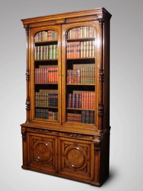 superb quality 19c victorian period pollard oak library bookcase
