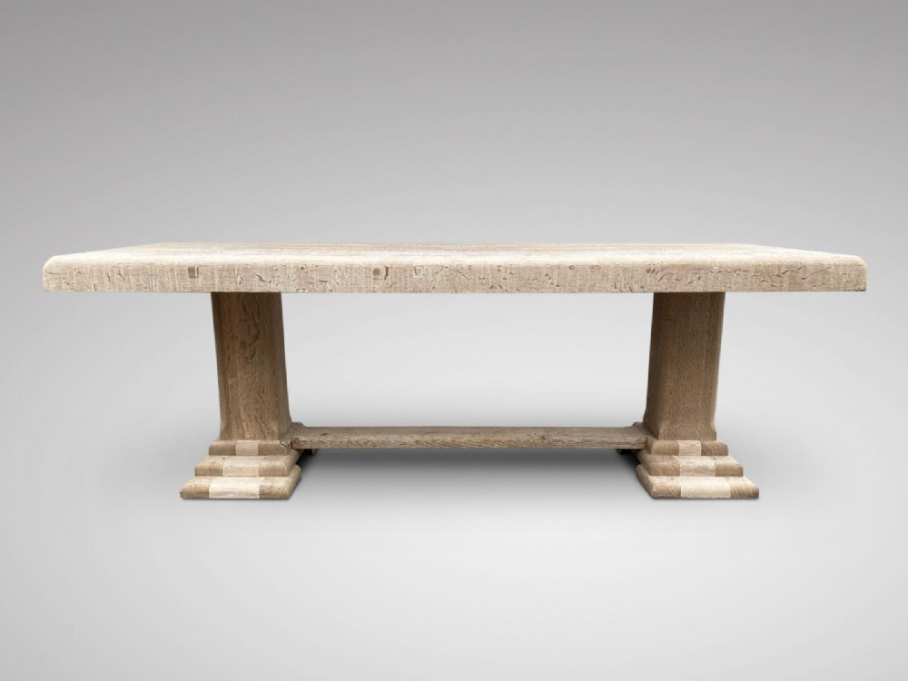 impressive bleached oak french dining table
