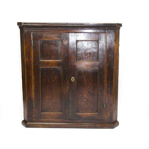 georgian oak corner cabinet