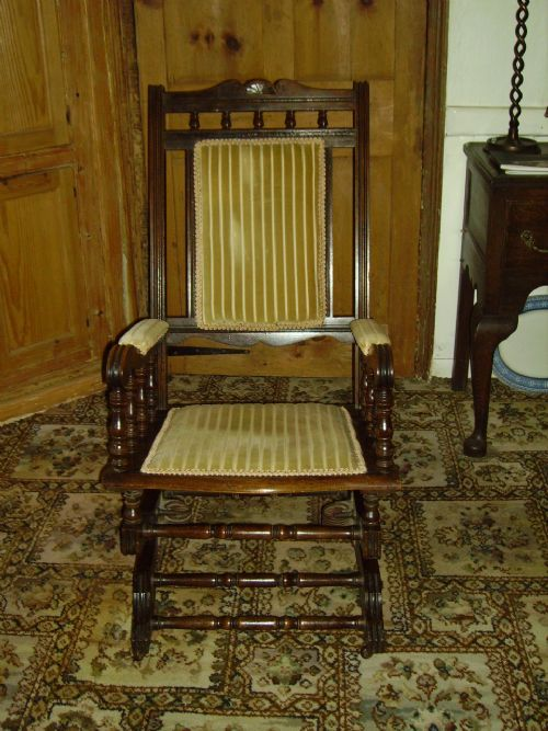 19th Century American Style Rocking Chair : 249791 : Sellingantiques.co.uk