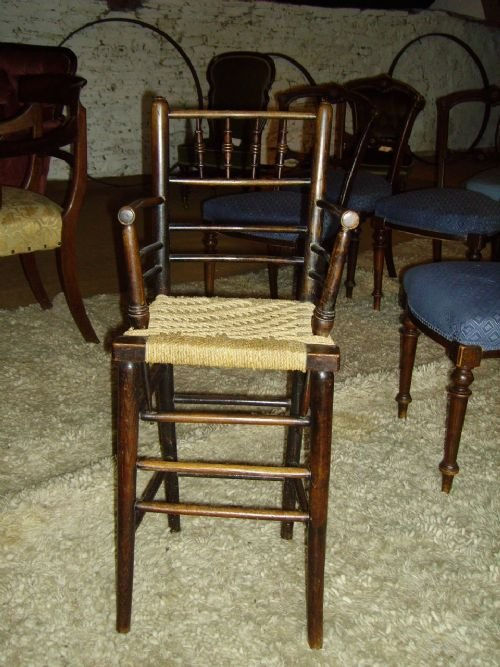 Antique Childs High Chair Furniture