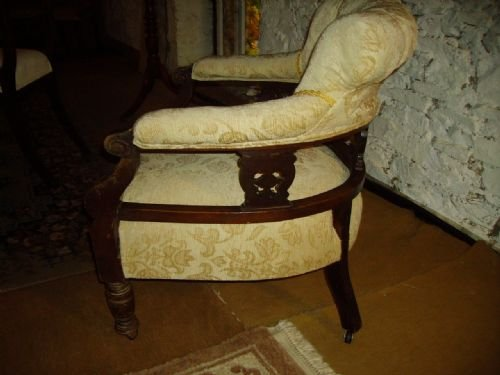 - Victorian Mahogany Tub Chair 17290 Sellingantiques.co.uk