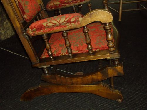 Late 19th Century American Style Rocking Chair 223175