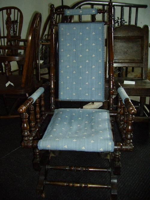 Stained Beech American Style Rocking Chair 47429