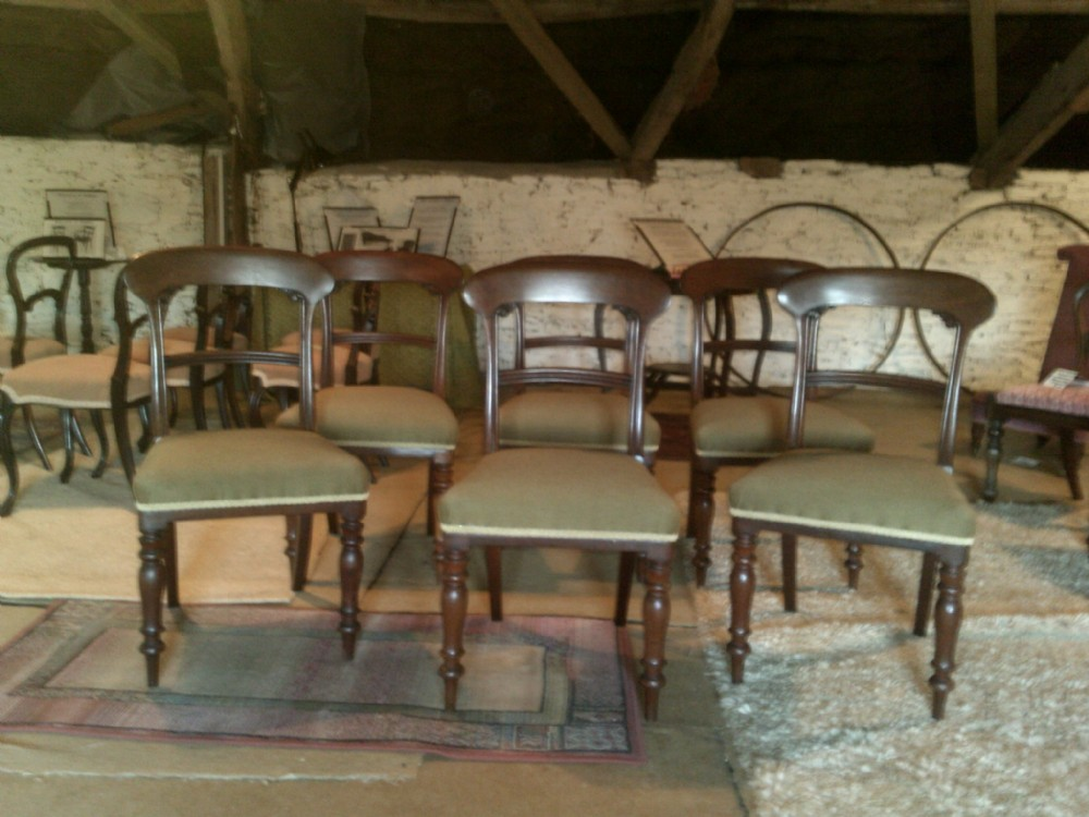 set of six early victorian mahogany dining chairs